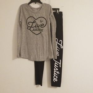 Live Justice Tee and Legging Set Size 8